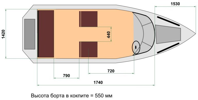 Схема лодки Wyatboat 470 У