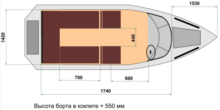 Схема лодки Wyatboat 470