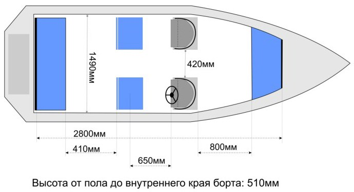 Схема лодки Wyatboat-3 DC